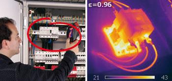 Obraz termowizyjny bezpiecznika