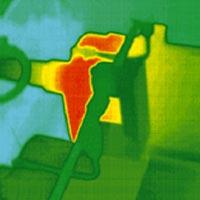 Obraz z kamery termowizyjnej - termogram.